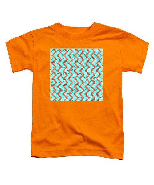 Abstract Orange, Yellow And Cyan Pattern For Home Decoration Toddler T-Shirt