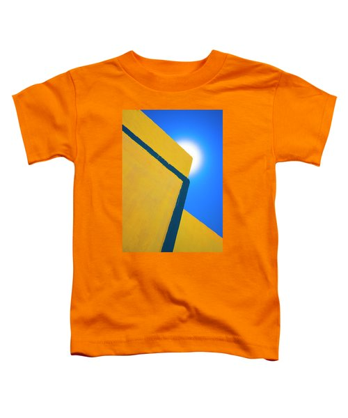 Abstract Yellow And Blue Toddler T-Shirt