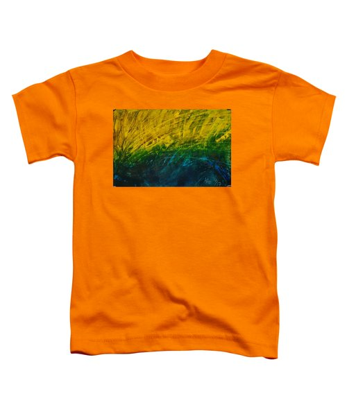Abstract Yellow, Green With Dark Blue.   Toddler T-Shirt
