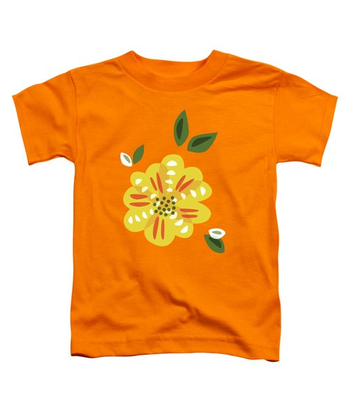 Abstract Yellow Primrose Flower Toddler T-Shirt