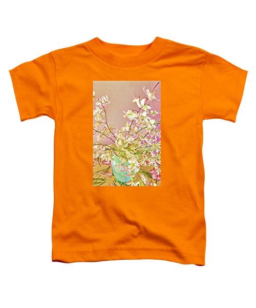 Aloha Bouquet Of The Day - White Orchids In Pink Toddler T-Shirt