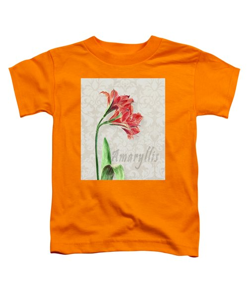 Amaryllis On The Ornament Toddler T-Shirt