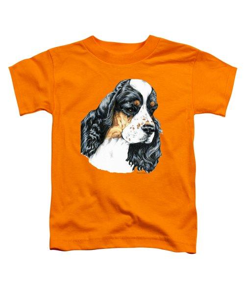 American Cocker Spaniel Parti Color Portrait Toddler T-Shirt