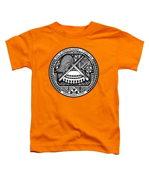 American Samoa Seal Toddler T-Shirt