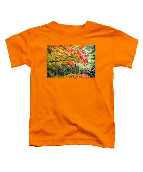 Toddler T-Shirt featuring the photograph Arboretum Autumn Leaves by Peter Simmons