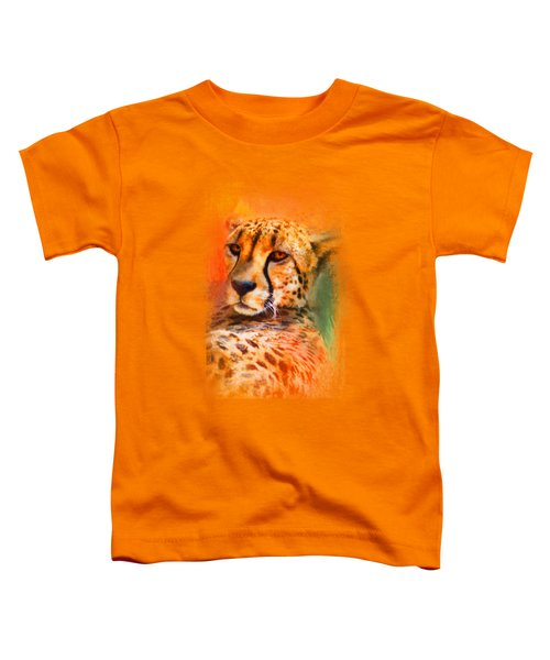 Colorful Expressions Cheetah Toddler T-Shirt by Jai Johnson
