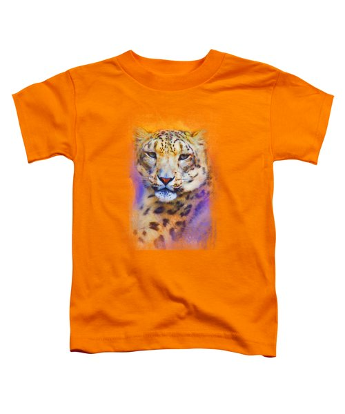 Colorful Expressions Snow Leopard Toddler T-Shirt by Jai Johnson