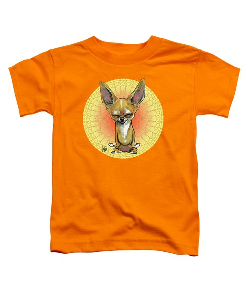 Meditating Chihuahua Toddler T-Shirt