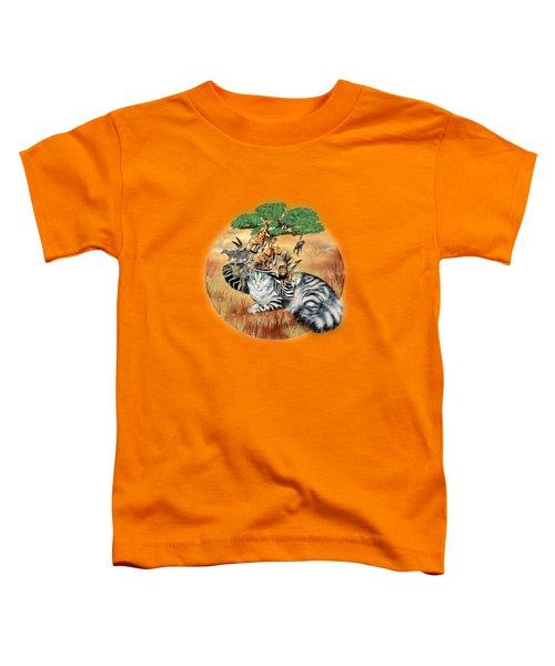 Cat In The Safari Hat Toddler T-Shirt