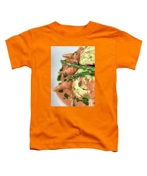 Asparagus Dish Toddler T-Shirt by Tom Gowanlock