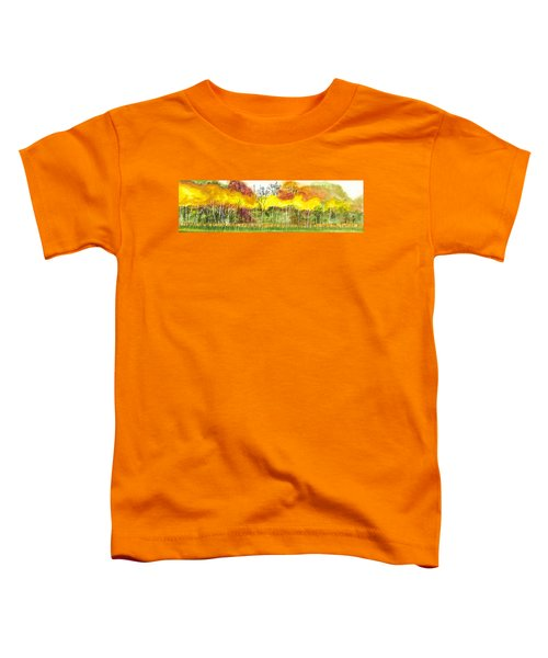 Aspen Trees In Autumn Toddler T-Shirt