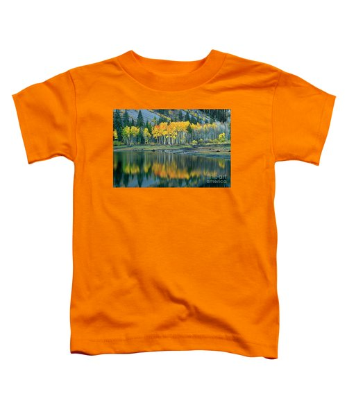 Aspens In Fall Color Along Lundy Lake Eastern Sierras California Toddler T-Shirt