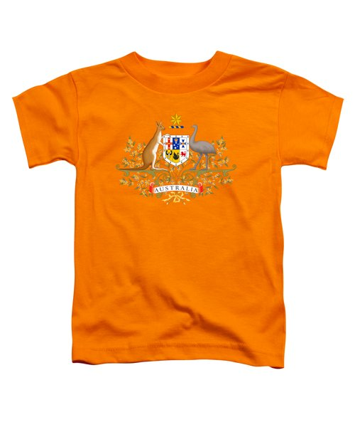 Australia Coat Of Arms Toddler T-Shirt by Movie Poster Prints
