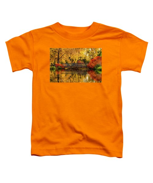 Autumn Color By The Pond Toddler T-Shirt