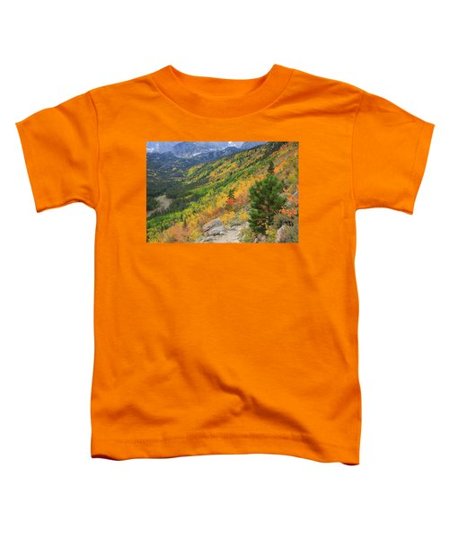 Toddler T-Shirt featuring the photograph Autumn On Bierstadt Trail by David Chandler