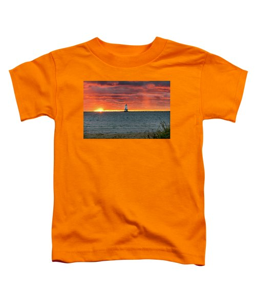 Awesome Sunset With Lighthouse  Toddler T-Shirt