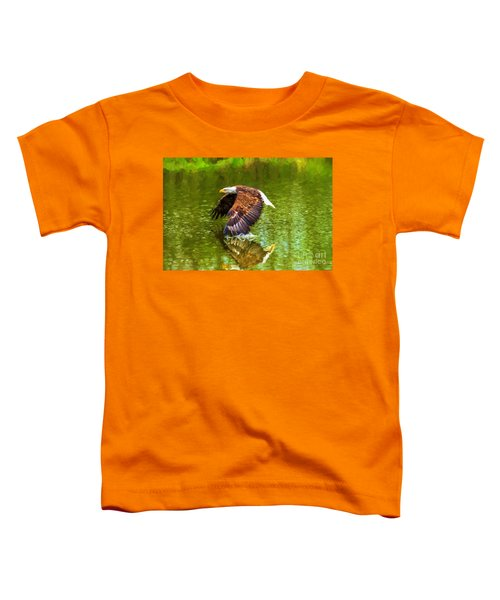 Bald Eagle Cutting The Water Toddler T-Shirt