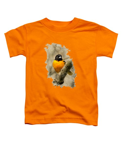 Baltimore Oriole Watercolor Art Toddler T-Shirt by Christina Rollo