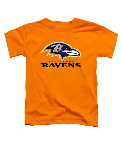Baltimore Ravens On An Abraded Steel Texture Toddler T-Shirt