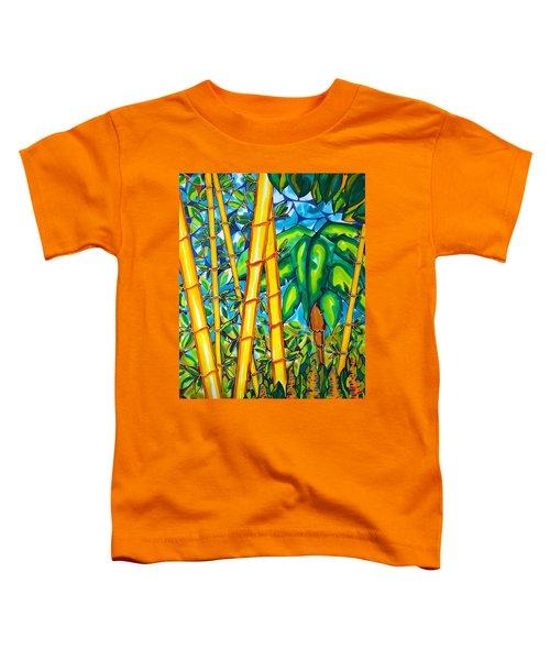 Bamboo And Banana Leaf Caye Caulker Belize Toddler T-Shirt