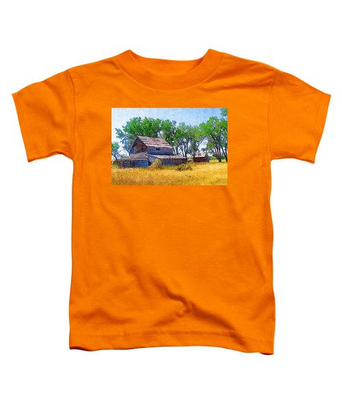 Toddler T-Shirt featuring the photograph Barber Homestead by Susan Kinney