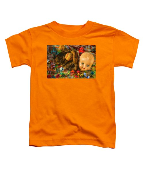 Baseball Glove And Dolls Head Toddler T-Shirt