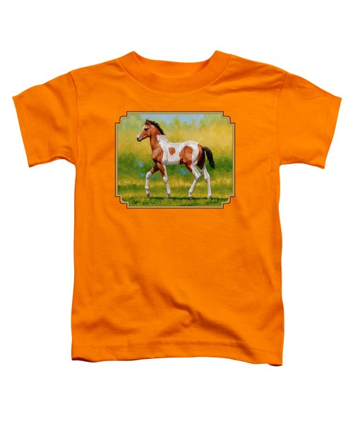 Bay Pinto Foal Toddler T-Shirt