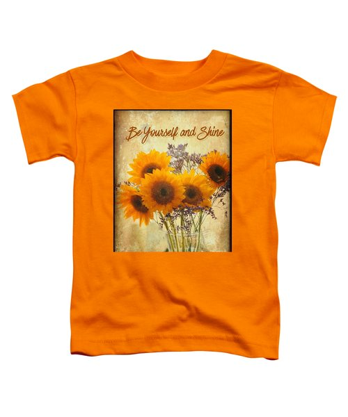 Be Yourself And Shine Toddler T-Shirt