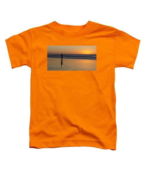 Beach Fishing At Sunset Toddler T-Shirt