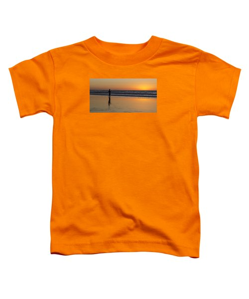Beach Fishing At Sunset Toddler T-Shirt