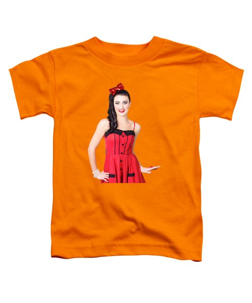 Toddler T-Shirt featuring the photograph Beautiful Pinup Girl With Pretty Smile by Jorgo Photography - Wall Art Gallery