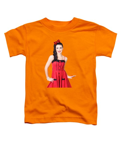 Beautiful Pinup Girl With Pretty Smile Toddler T-Shirt