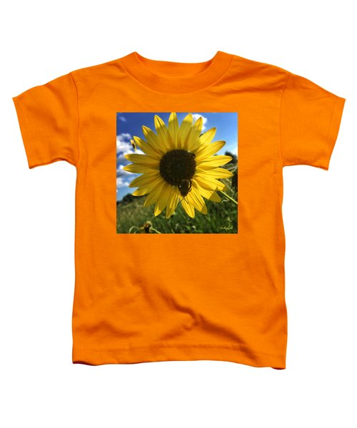 Bee And Sunflower Toddler T-Shirt