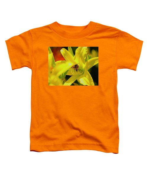 Bee On Yellow Lilly Toddler T-Shirt