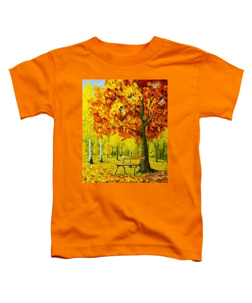 Bench Under The Maple Tree Toddler T-Shirt