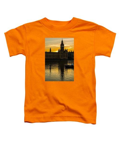 Big Ben Tower Golden Hour In London Toddler T-Shirt