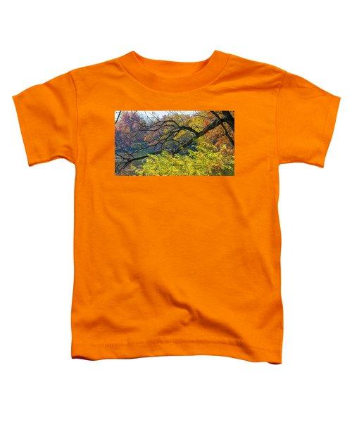 Black Branches Through Bright Autumn Trees Toddler T-Shirt