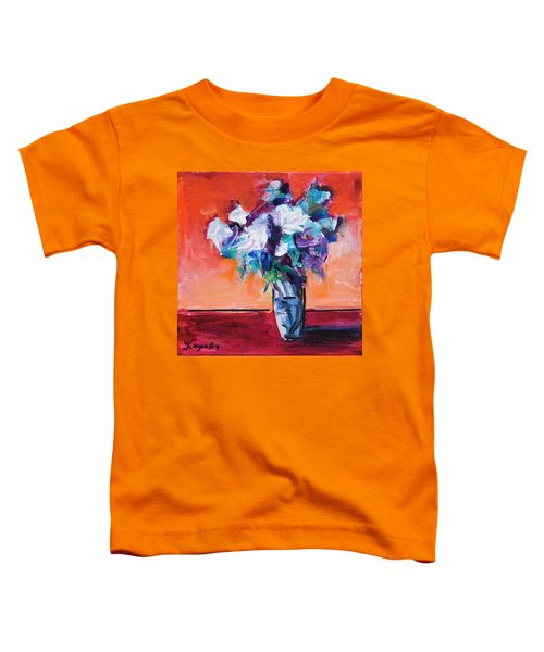 Blue Flowers In A Vase Toddler T-Shirt