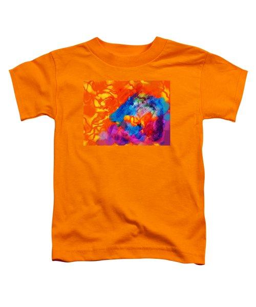 Blue On Orange Toddler T-Shirt