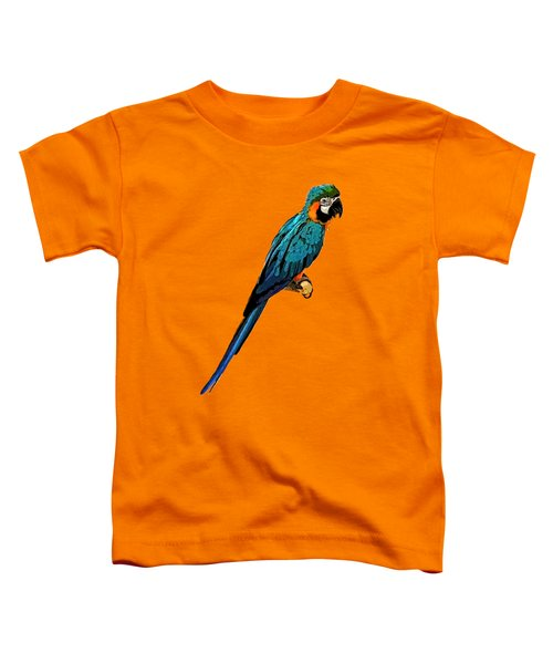 Blue Parrot Art Toddler T-Shirt