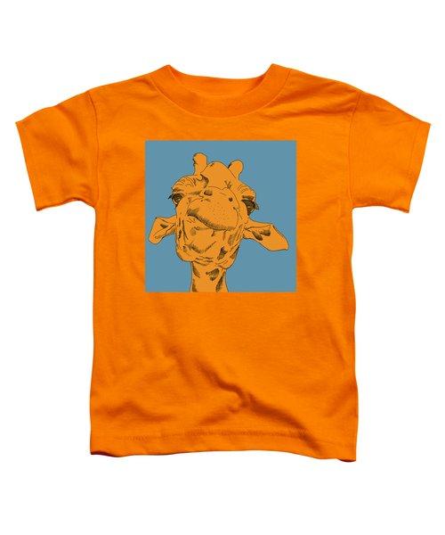 Blue Sky Giraffe  Toddler T-Shirt