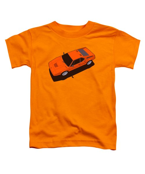 Bmw M1 E26 Red Orange Toddler T-Shirt