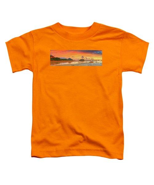 Boat At Sunset Toddler T-Shirt