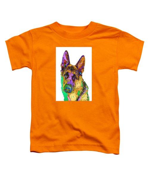 Bogart The Shepherd. Pet Series Toddler T-Shirt