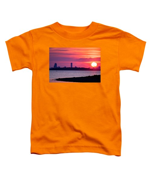 Boston Skyline Worlds End Toddler T-Shirt