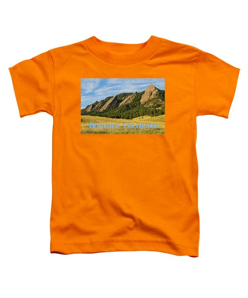 Toddler T-Shirt featuring the photograph Boulder Colorado Poster 1 by James BO Insogna