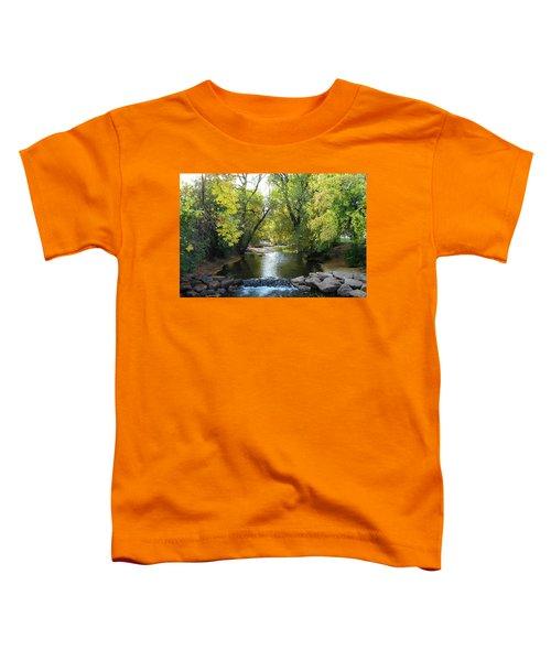 Boulder Creek Tumbling Through Early Fall Foliage Toddler T-Shirt