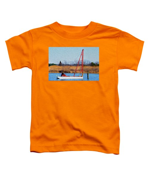 Bright Paintery Barge Toddler T-Shirt