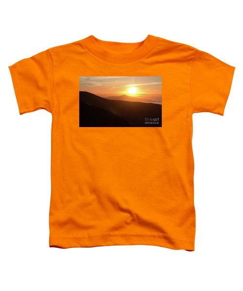Bright Sun Rising Over The Mountains Toddler T-Shirt