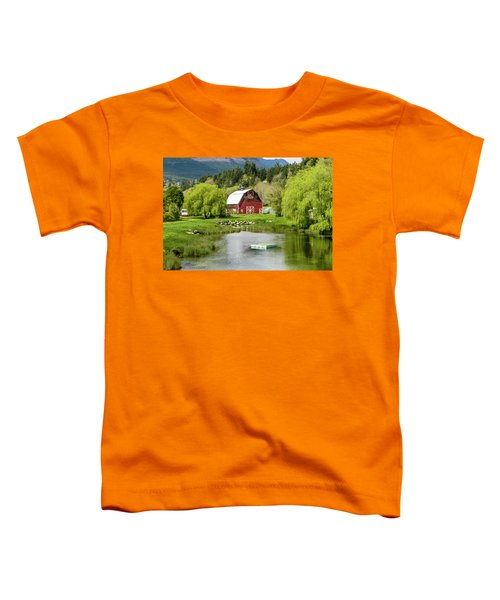 Brinnon Washington Barn By Pond Toddler T-Shirt